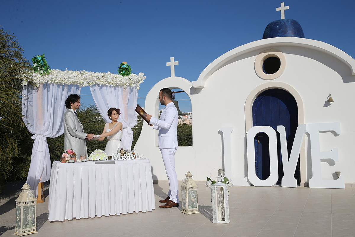 santorini wedding vevue
