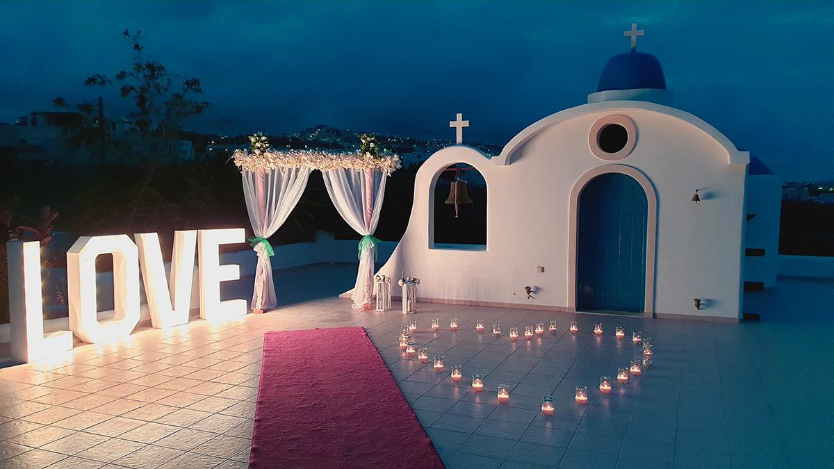 santorini wedding venue