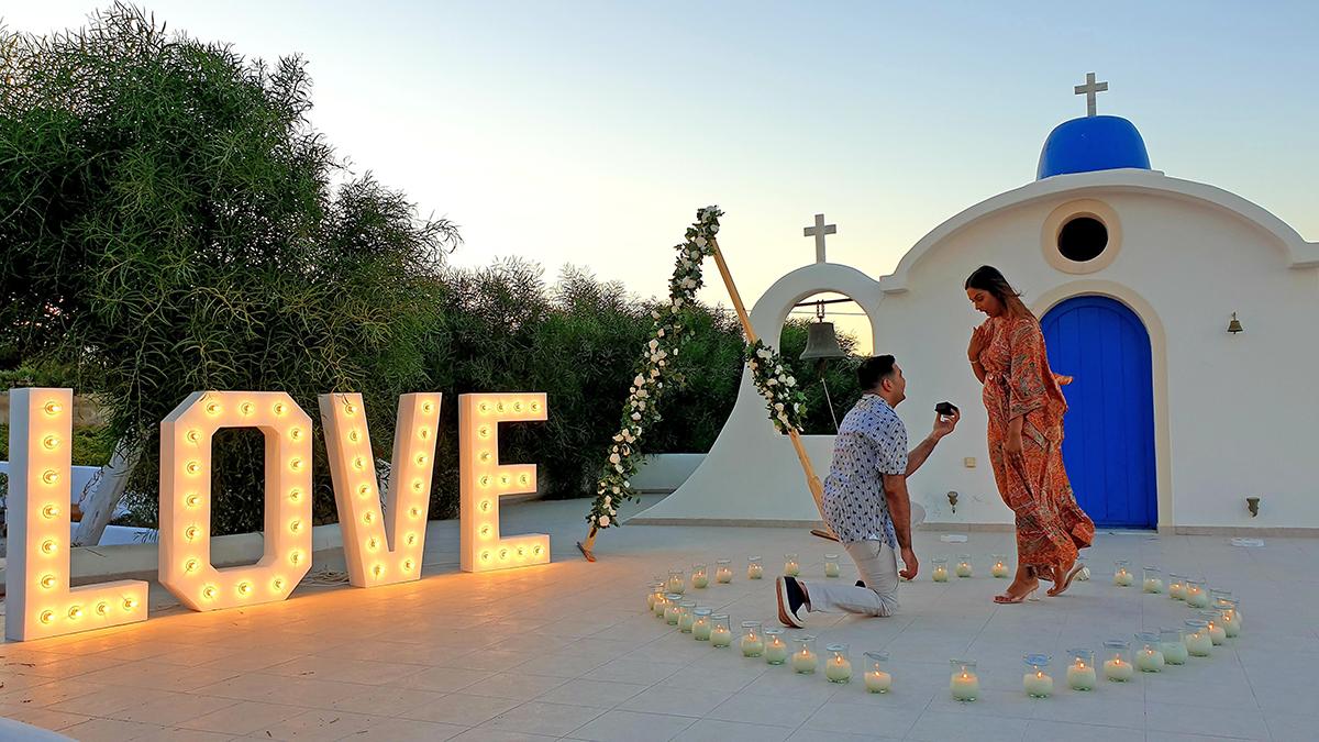 santorini proposal wedding venue