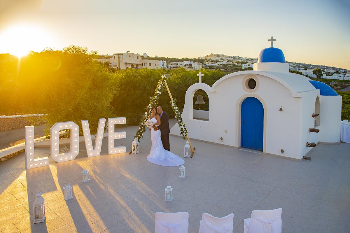 santorini wedding venue cost